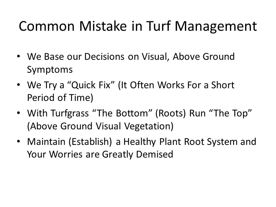 Common Mistake in Turf Management