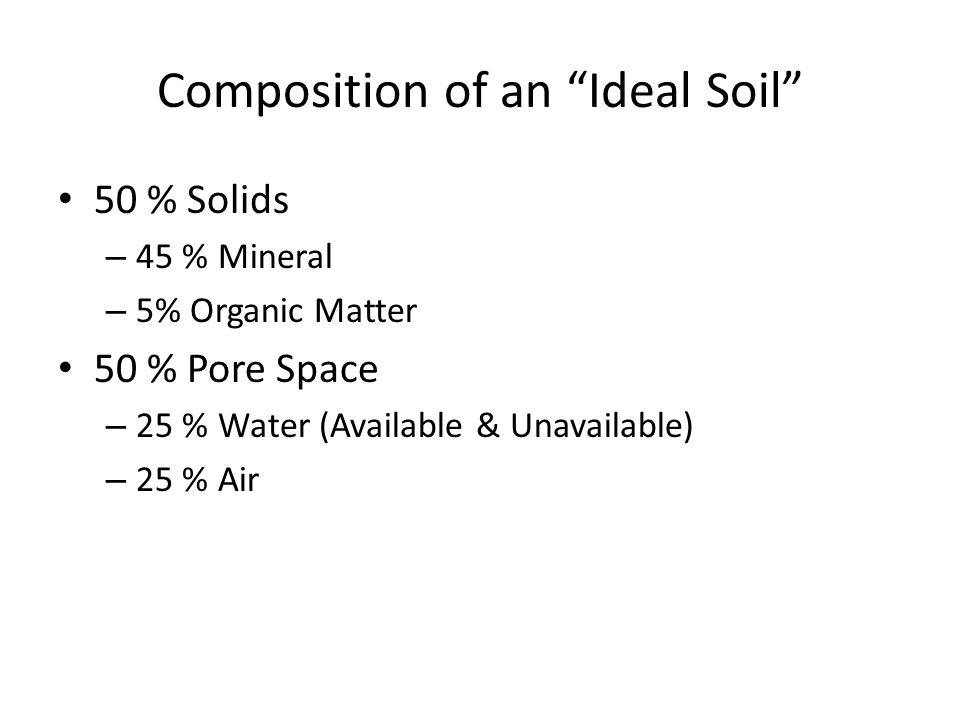 Composition of an Ideal Soil