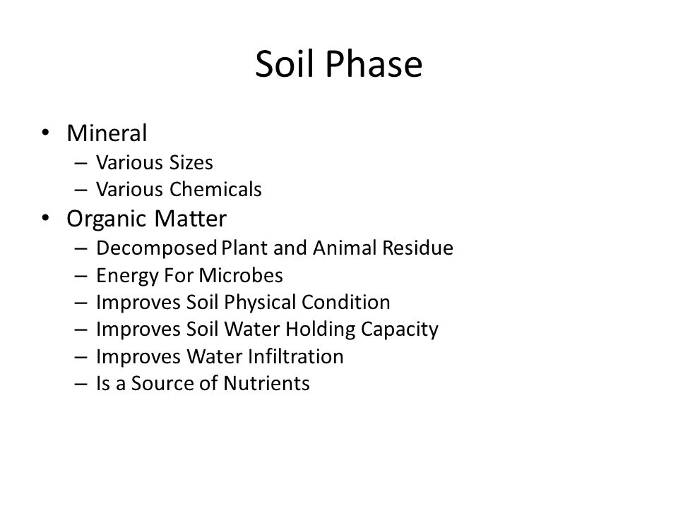 Soil Phase Mineral Organic Matter Various Sizes Various Chemicals