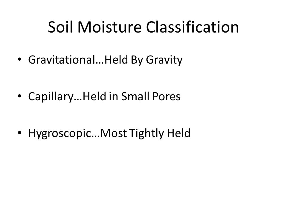 Soil Moisture Classification