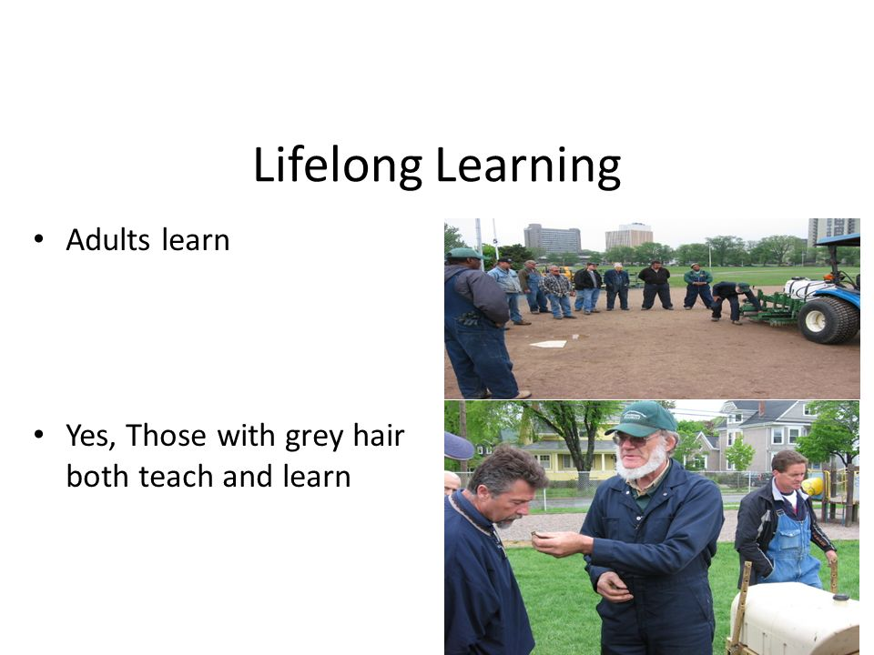 Lifelong Learning Adults learn