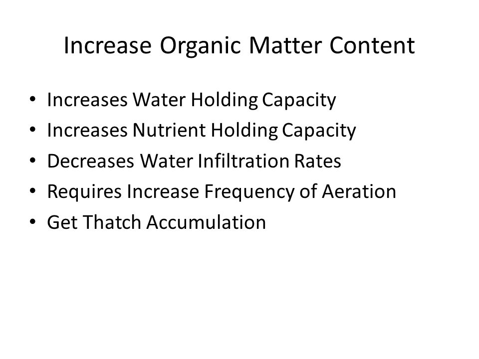 Increase Organic Matter Content