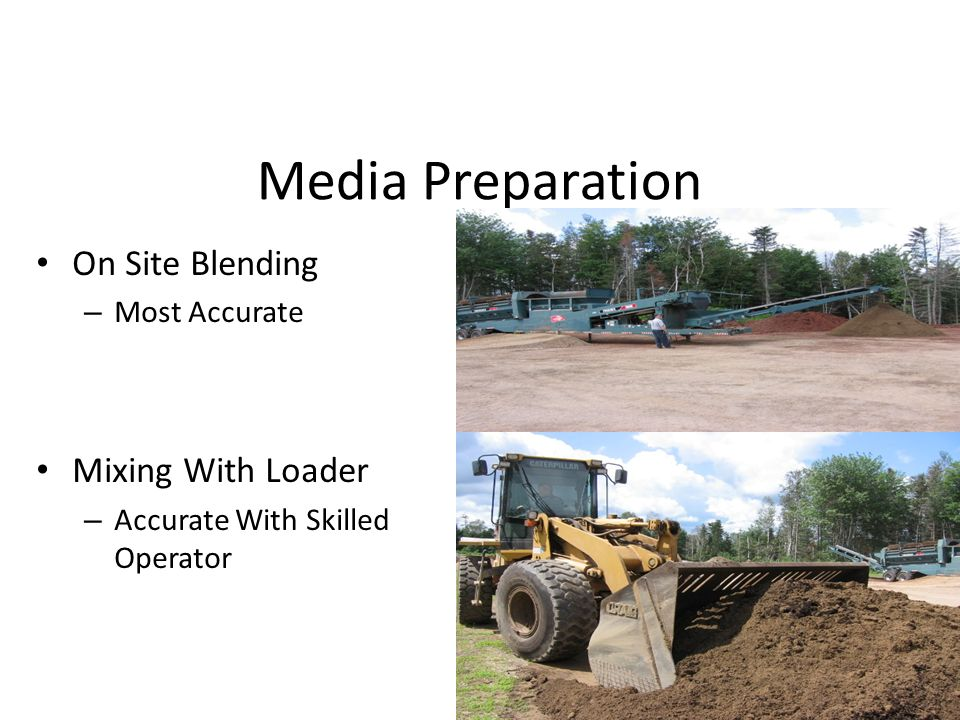 Media Preparation On Site Blending Mixing With Loader Most Accurate