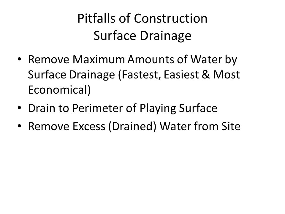 Pitfalls of Construction Surface Drainage