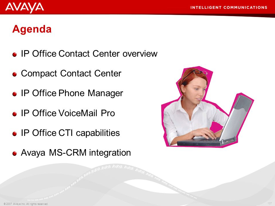 Agenda IP Office Contact Center overview Compact Contact Center