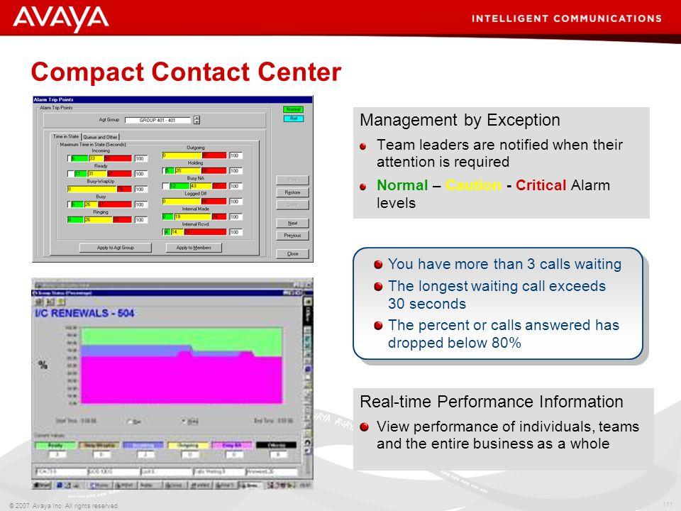 Compact Contact Center