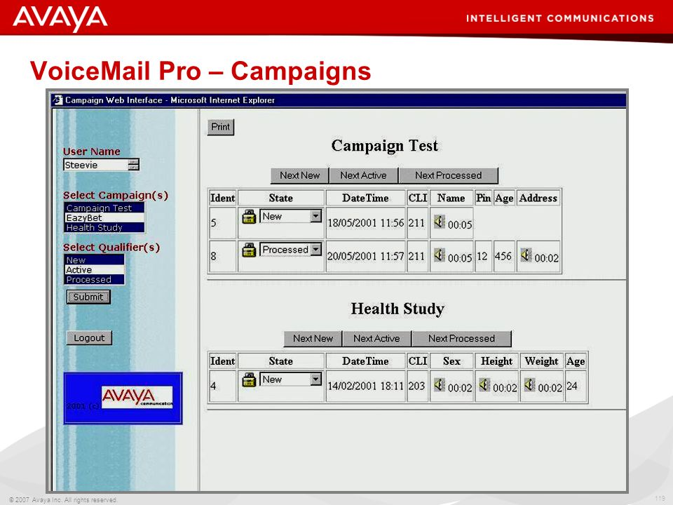 VoiceMail Pro – Campaigns