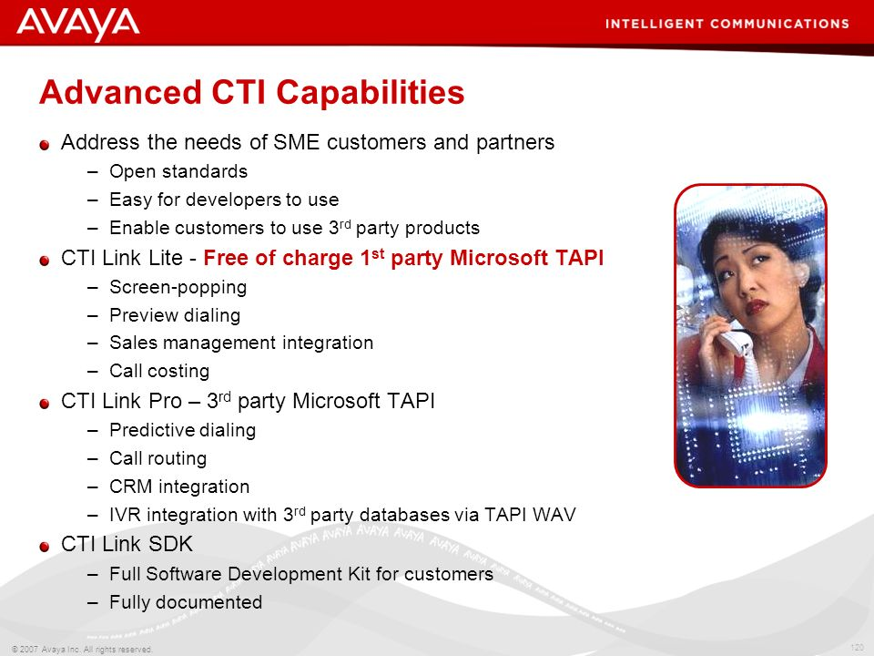 Advanced CTI Capabilities