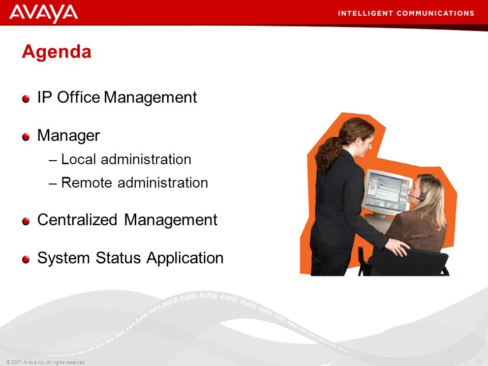 Agenda IP Office Management Manager Centralized Management
