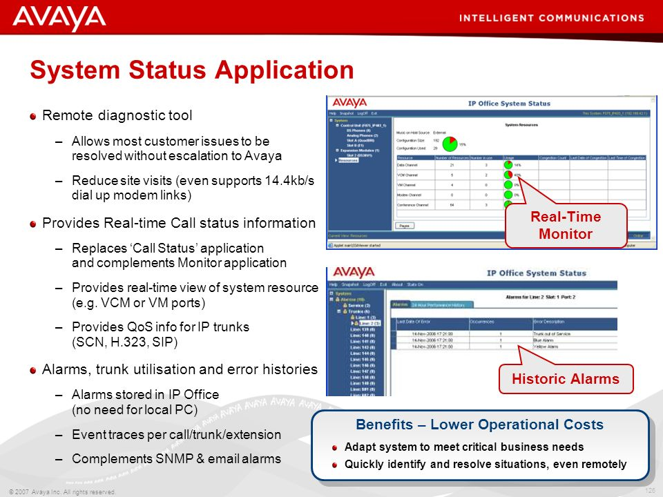 System Status Application
