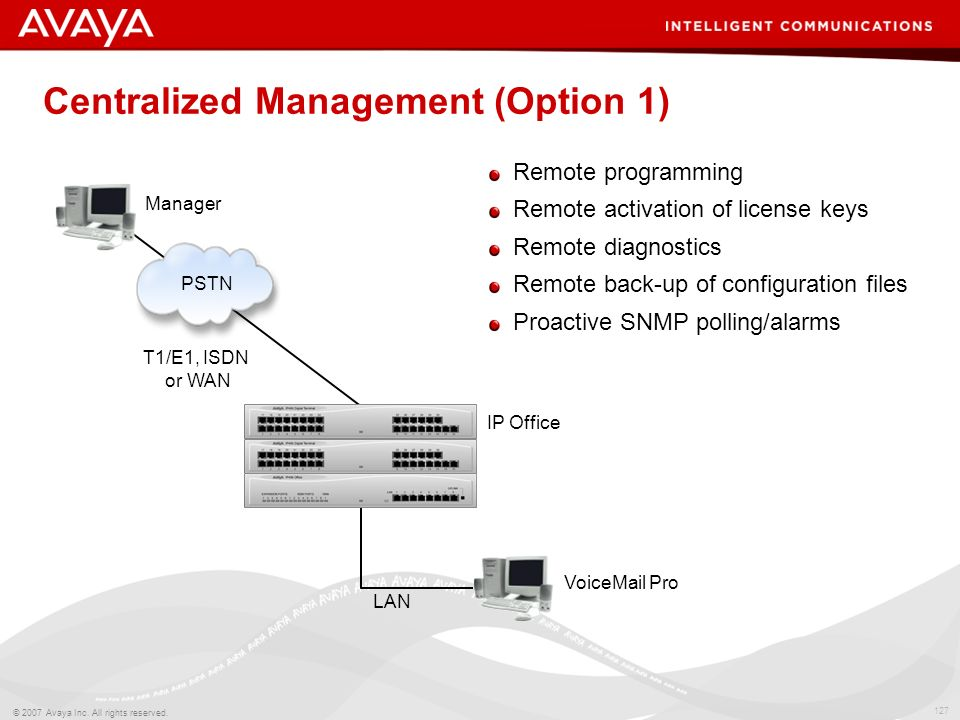 Centralized Management (Option 1)