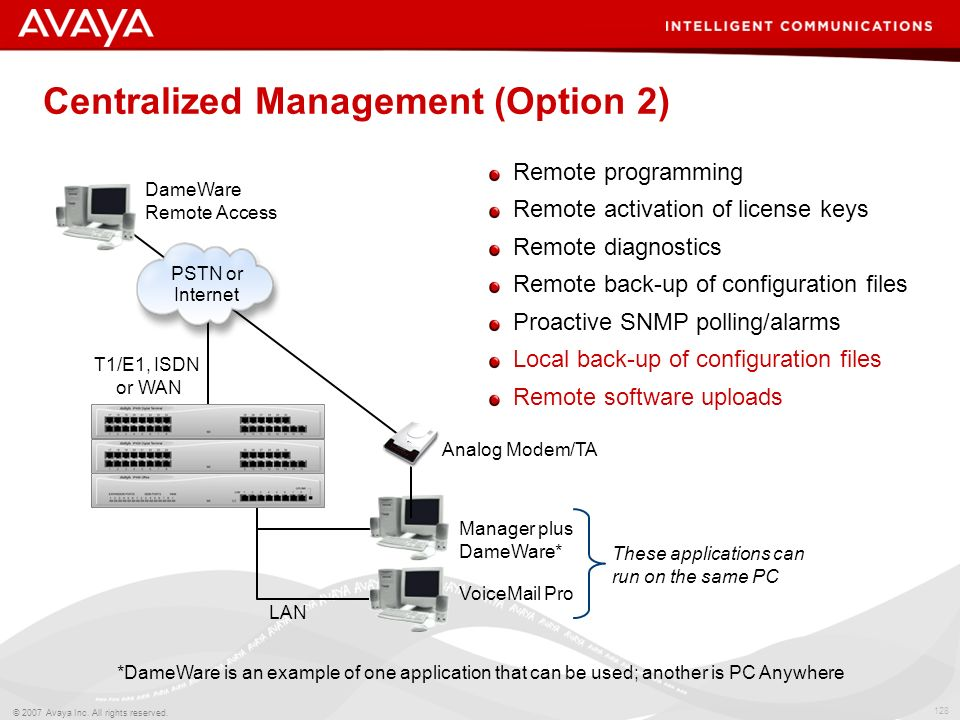 Centralized Management (Option 2)