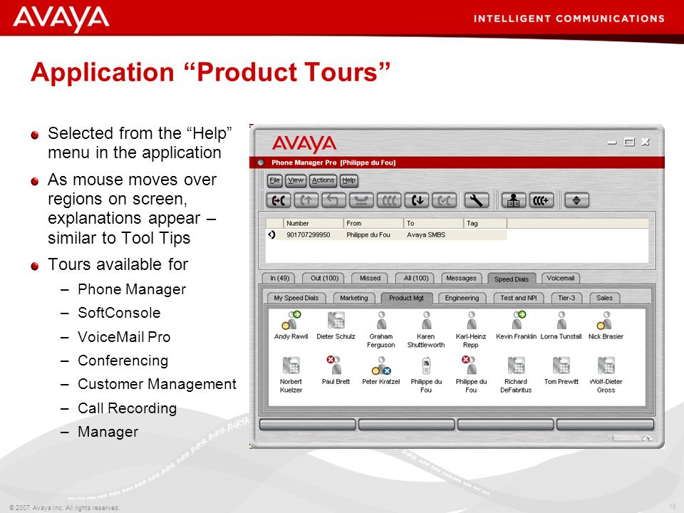Application Product Tours