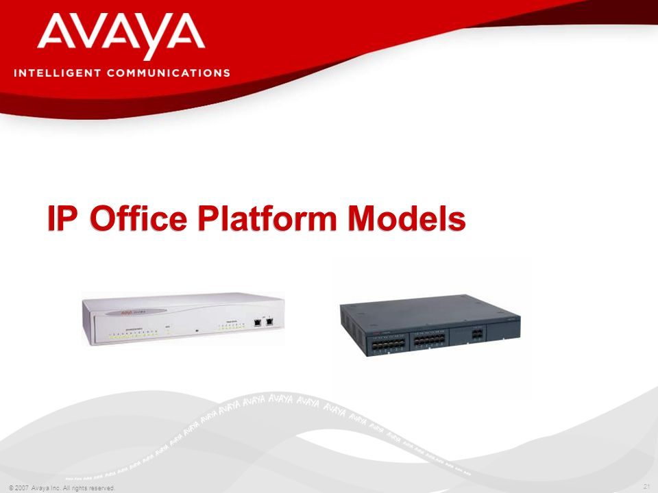IP Office Platform Models
