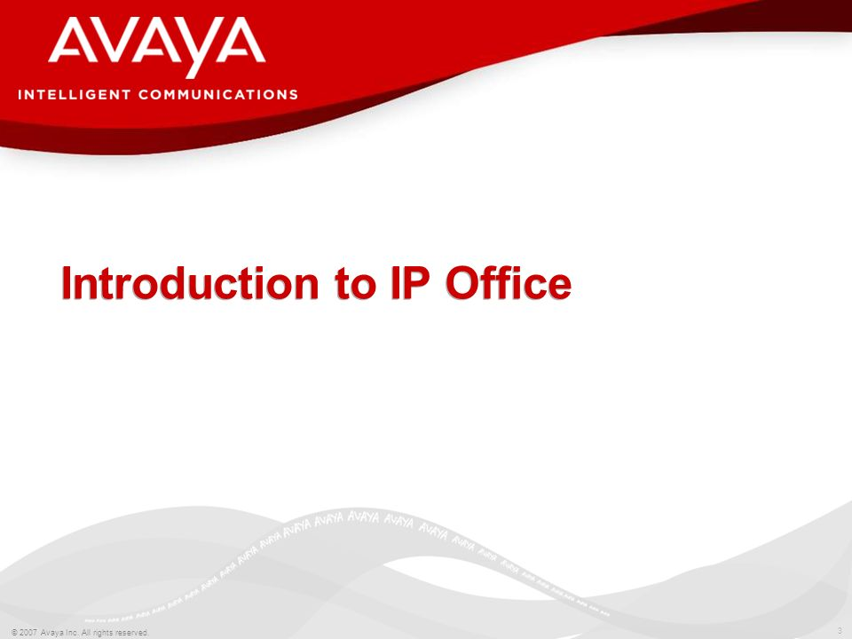 Introduction to IP Office