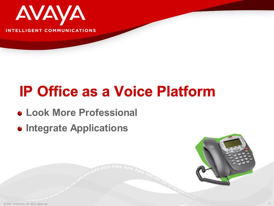 IP Office as a Voice Platform