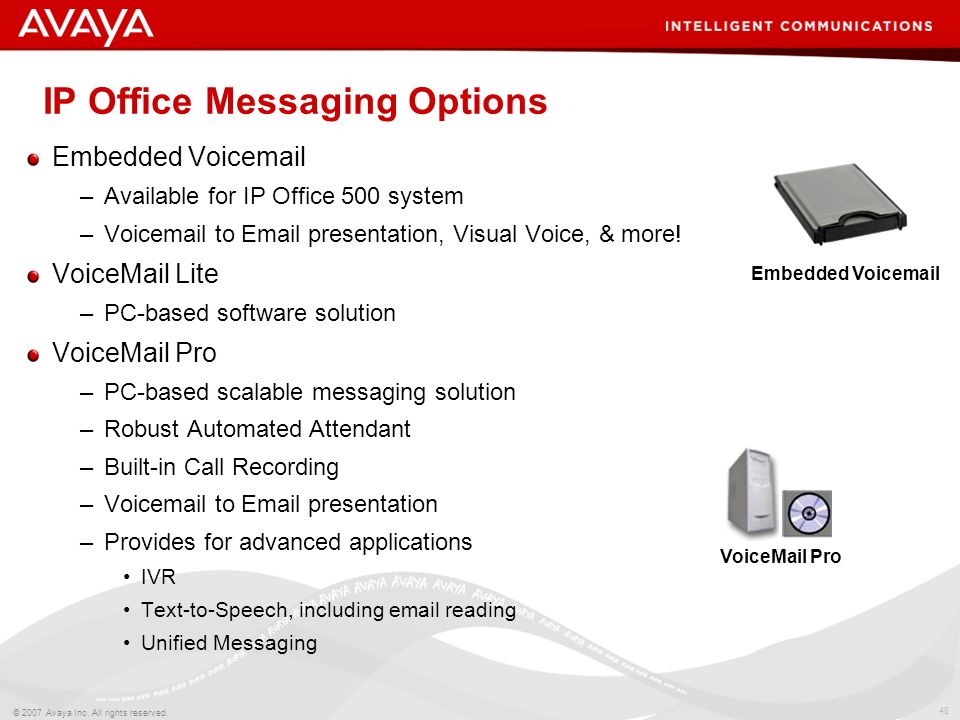 IP Office Messaging Options