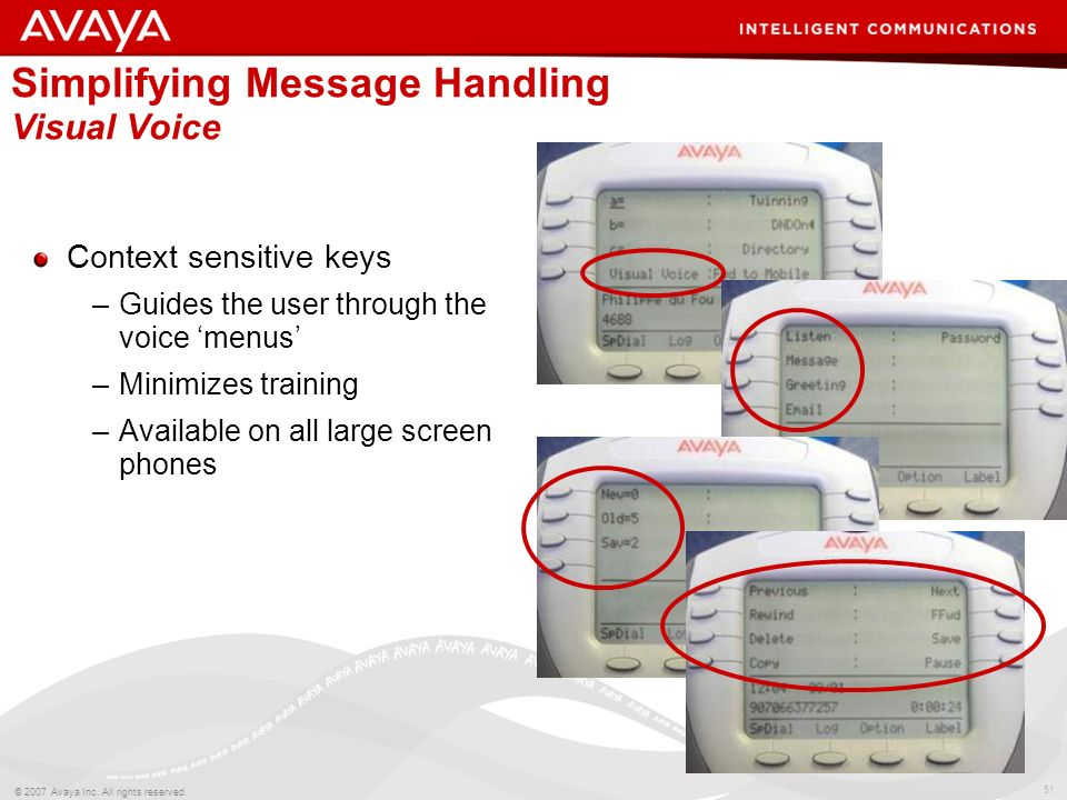 Simplifying Message Handling Visual Voice