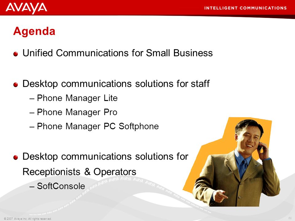 Agenda Unified Communications for Small Business