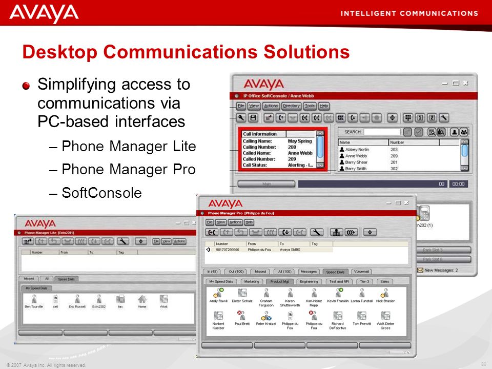 Desktop Communications Solutions