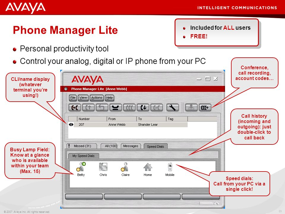 Phone Manager Lite Personal productivity tool