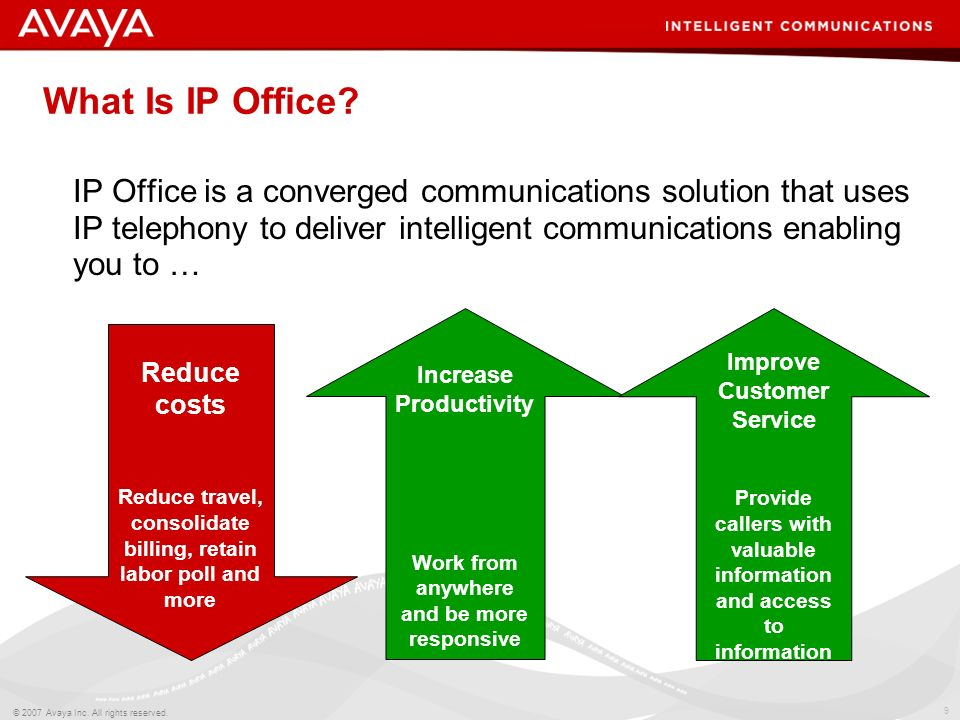 What Is IP Office IP Office is a converged communications solution that uses IP telephony to deliver intelligent communications enabling you to …