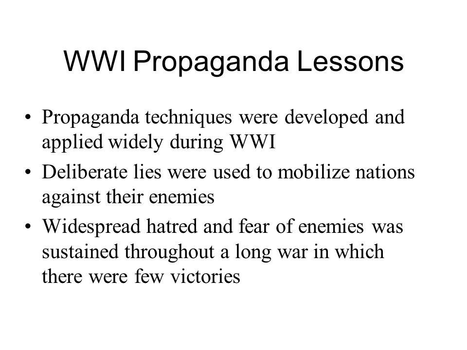 WWI Propaganda Lessons