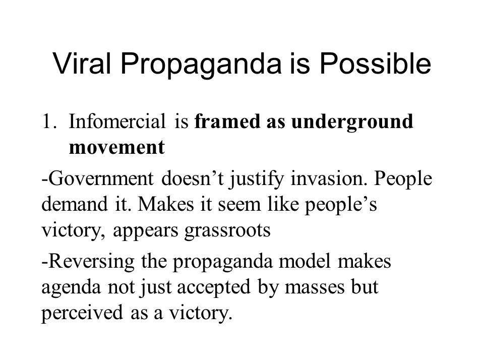 Viral Propaganda is Possible