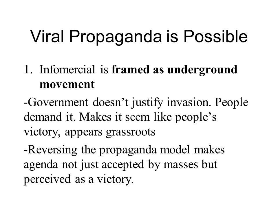 Viral Propaganda is Possible