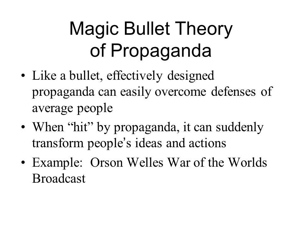 Magic Bullet Theory of Propaganda