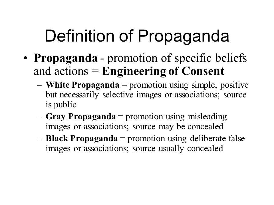 Definition of Propaganda
