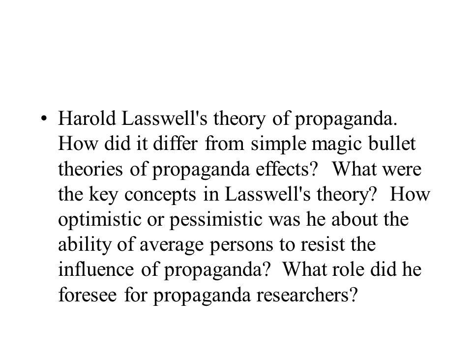 Harold Lasswell s theory of propaganda