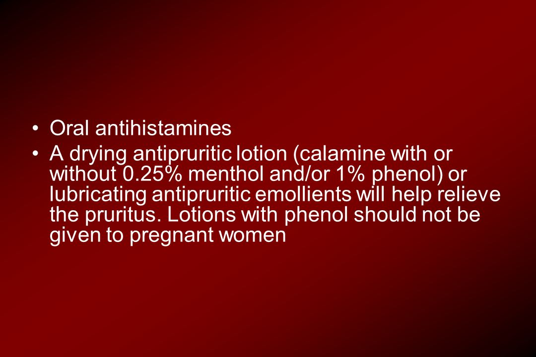 Oral antihistamines