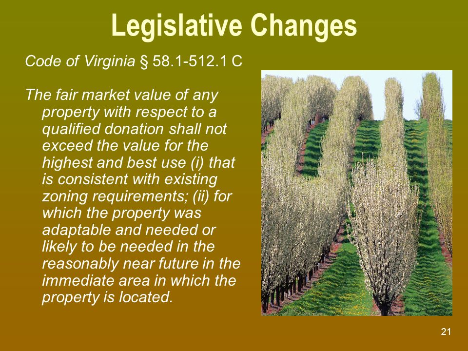 Legislative Changes Code of Virginia § 58.1-512.1 C