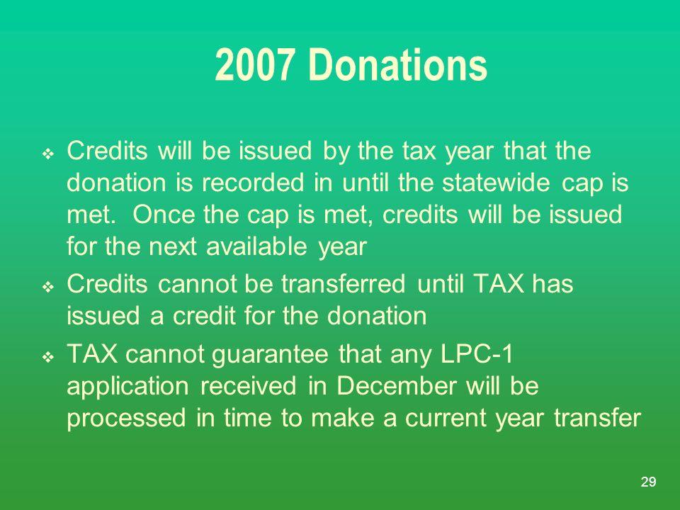 2007 Donations