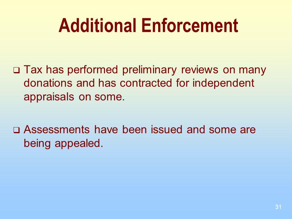 Additional Enforcement