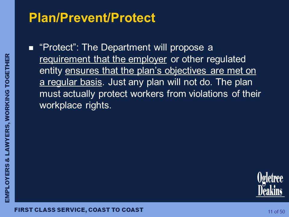 Plan/Prevent/Protect