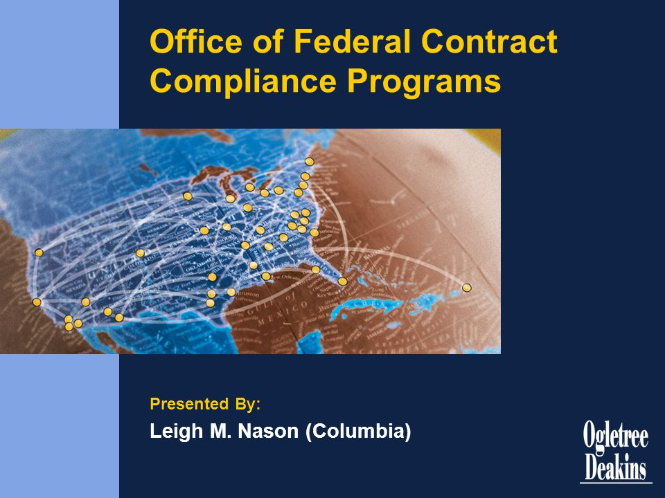 Office of Federal Contract Compliance Programs