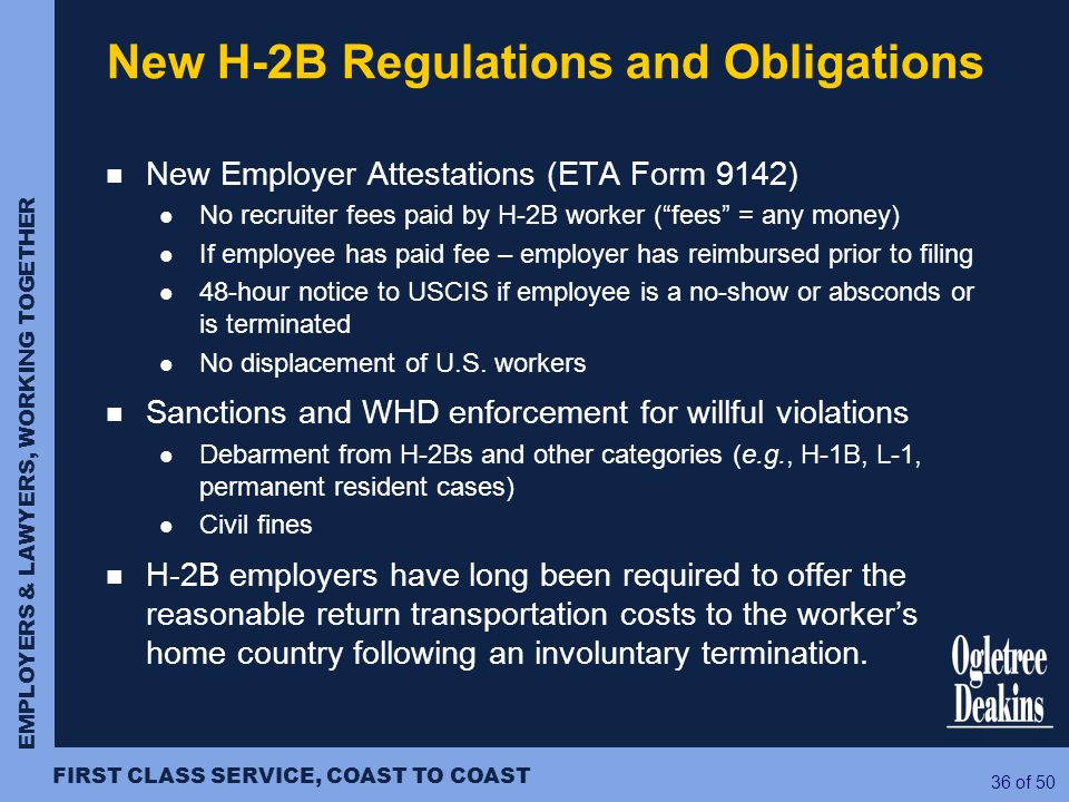 New H-2B Regulations and Obligations