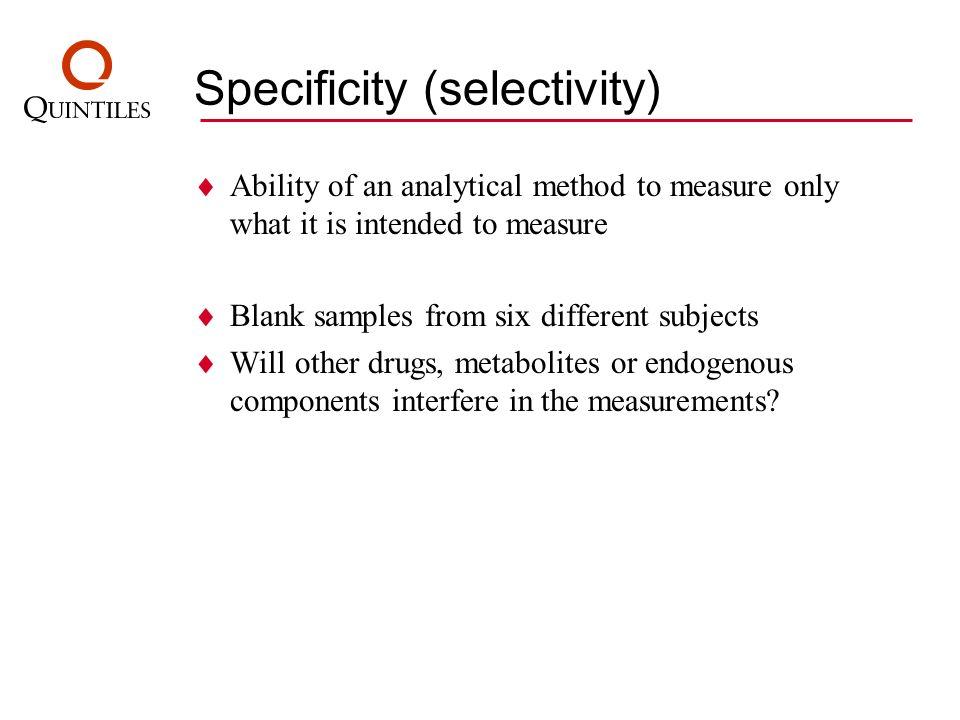 Specificity (selectivity)