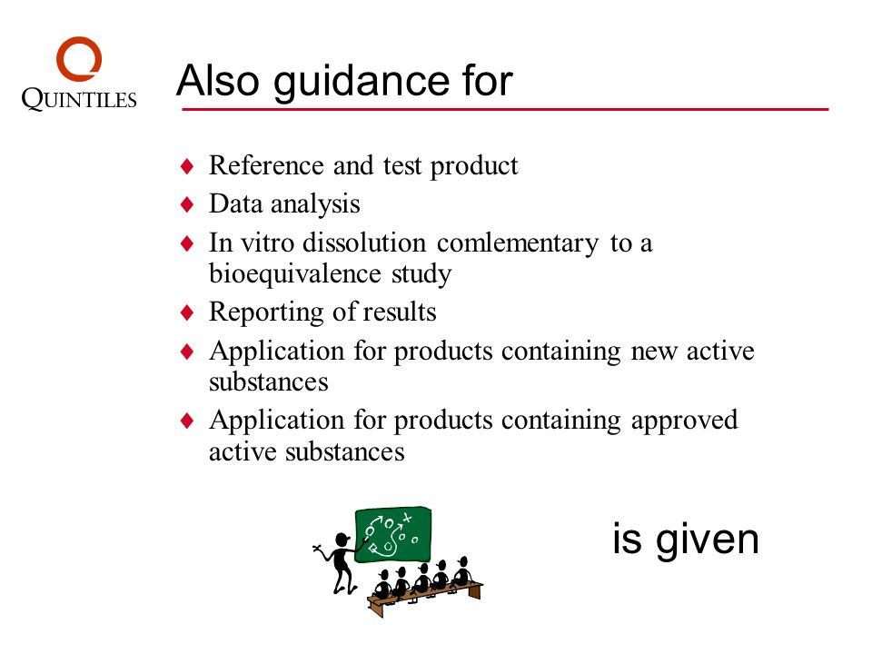 Also guidance for Reference and test product Data analysis