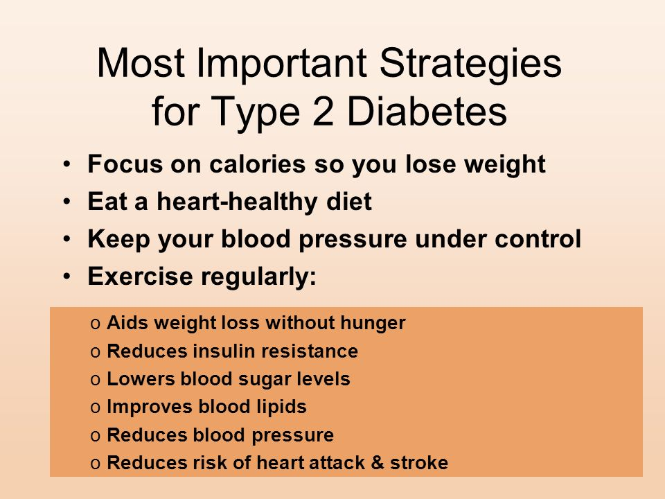 Most Important Strategies for Type 2 Diabetes