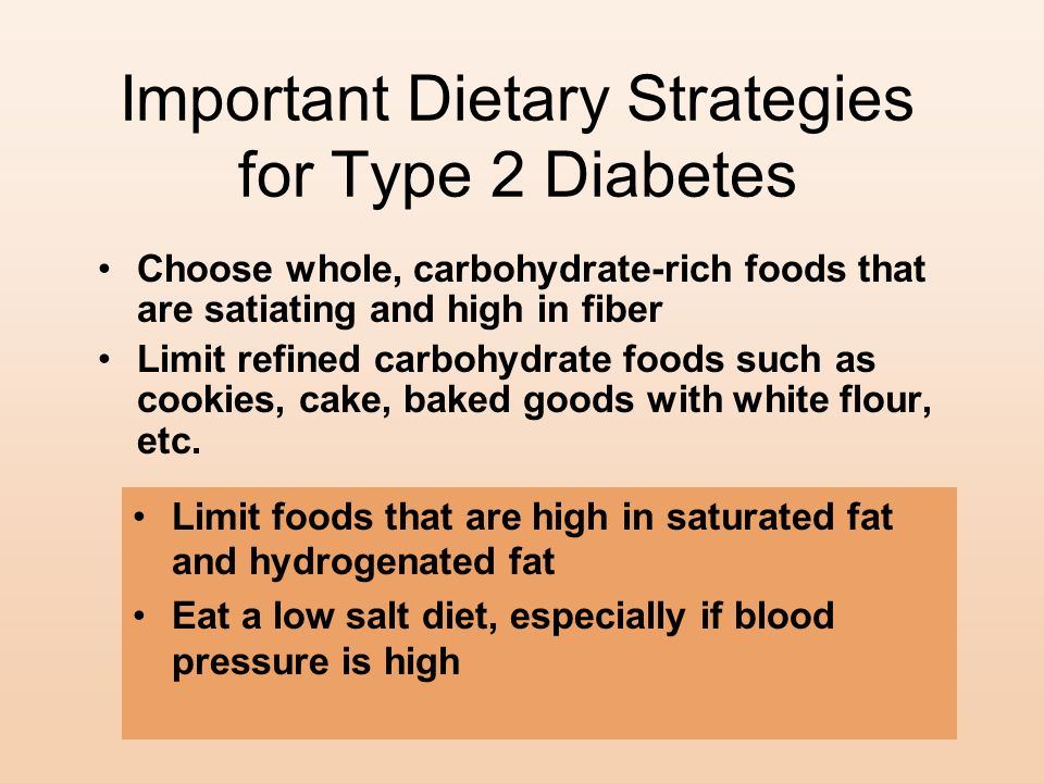 Important Dietary Strategies for Type 2 Diabetes