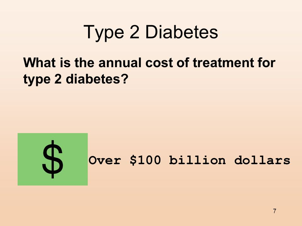 Type 2 Diabetes What is the annual cost of treatment for type 2 diabetes