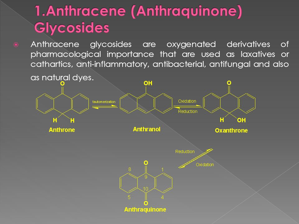 1.Anthracene (Anthraquinone) Glycosides
