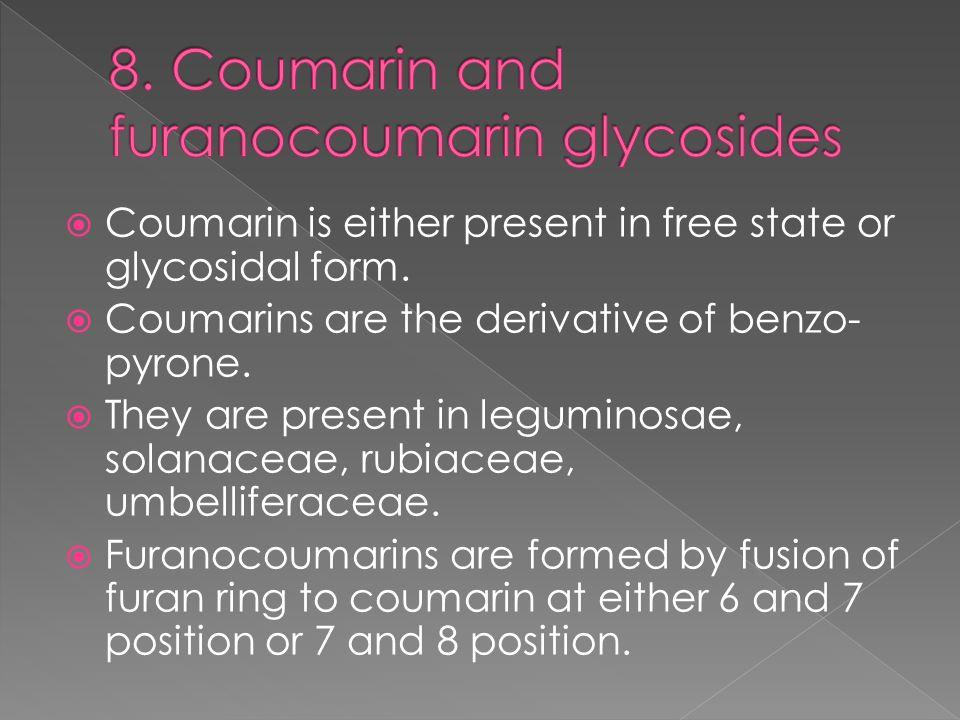 8. Coumarin and furanocoumarin glycosides