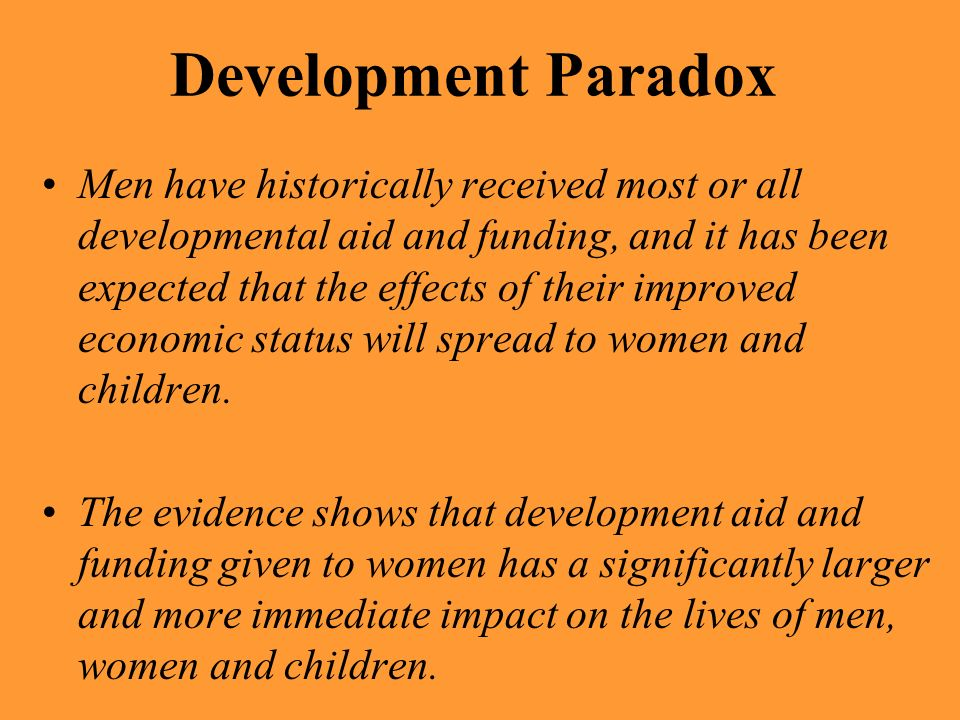 Development Paradox