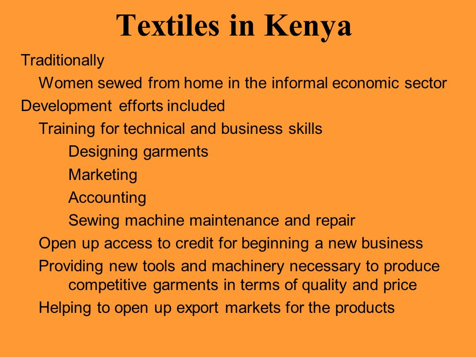 Textiles in Kenya Traditionally