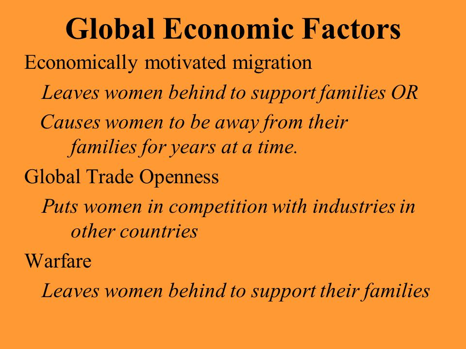 Global Economic Factors