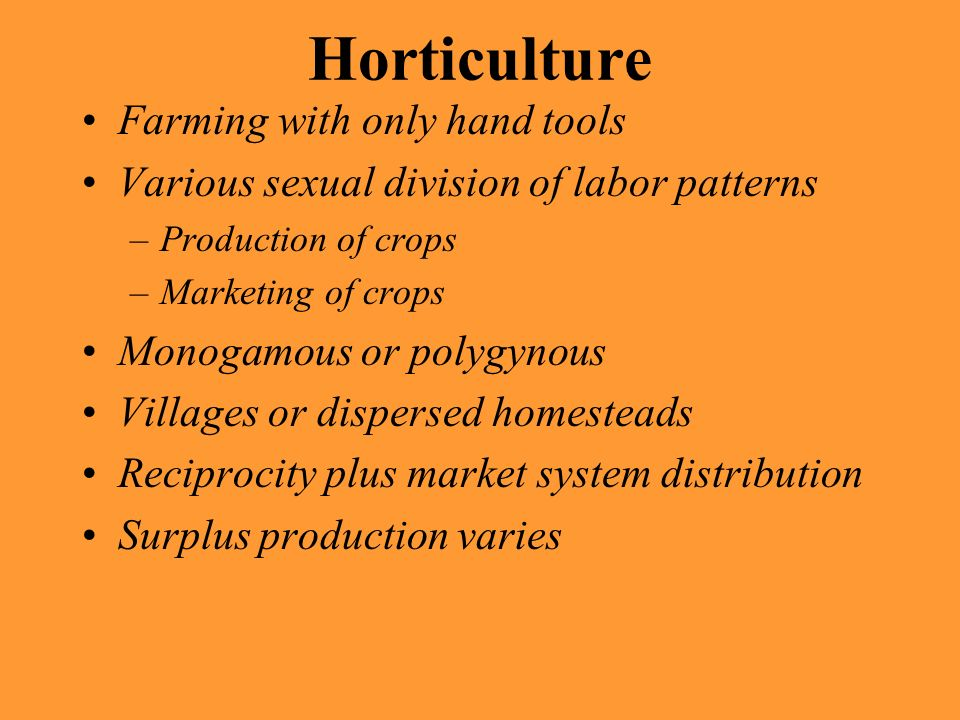 Horticulture Farming with only hand tools